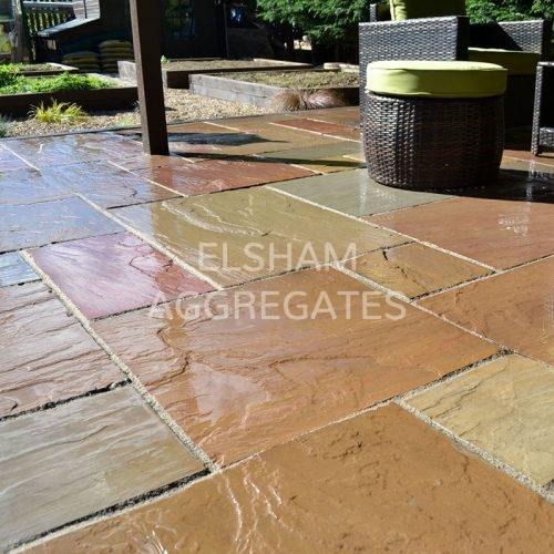 Elsham Aggregates Autumn Brown Natural Sandstone Pavers 1